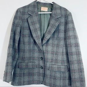 Pendleton wool Coat Houndstooth Design